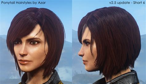 hairstyles nexxus ponytail hairstyles by azar v2 5a at fallout 4 nexus