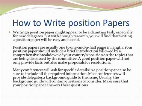 how to write paper model un overview ppt
