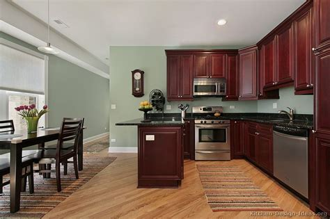 Kitchen Paint Colors With Dark Wood Cabinets | pictures of kitchens traditional dark wood kitchens