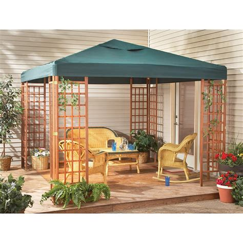 10x10 Deck Gazebo 10x10 Wood Gazebo 152042 Patio Furniture At Sportsman