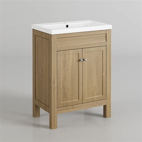 600mm melbourne ivory door vanity unit floor