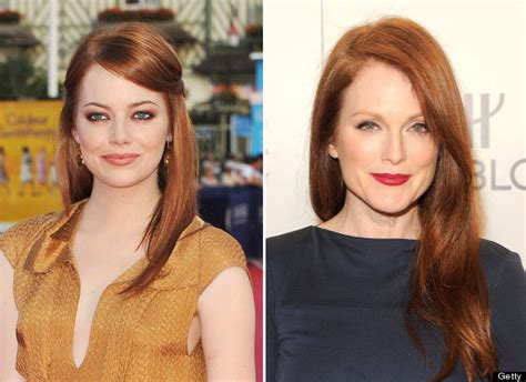 emma stone julianne moore celebrity doppelgangers stars who could play younger