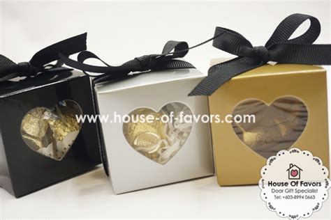 gift box kotak garis black large shaped window favor boxes 2 quot x2 quot x2 quot as low as rm0