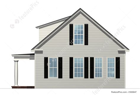 building houses with side views illustration of side view of house
