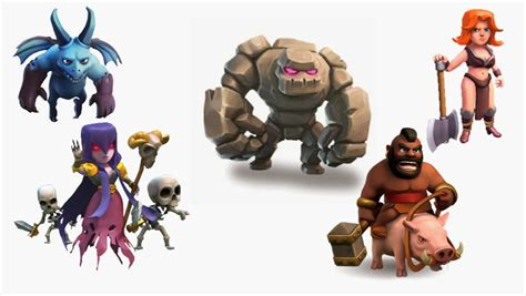 clash clans troops clash of clans troops list best source for mobile gaming