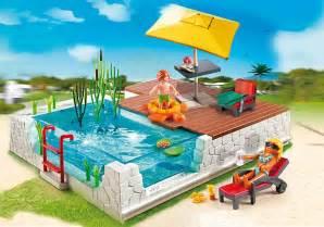 playmobil schwimmbad jouet playmobil city maison 5575 piscine avec terrasse