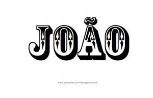 desenhos de tatuagem com o nome joao