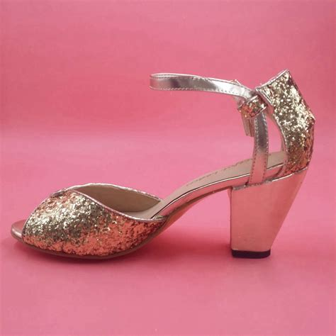 comfortable gold shoes gold glitter spark wedding shoe handmade pumps leather