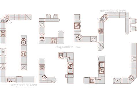 Kitchen Cabinets Plans furniture 17 kitchen dwg free cad blocks download