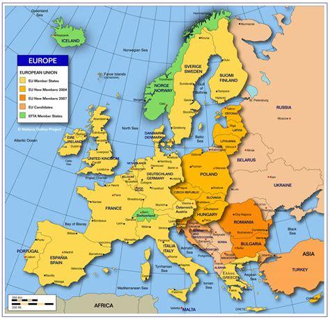 Europe Seas Map