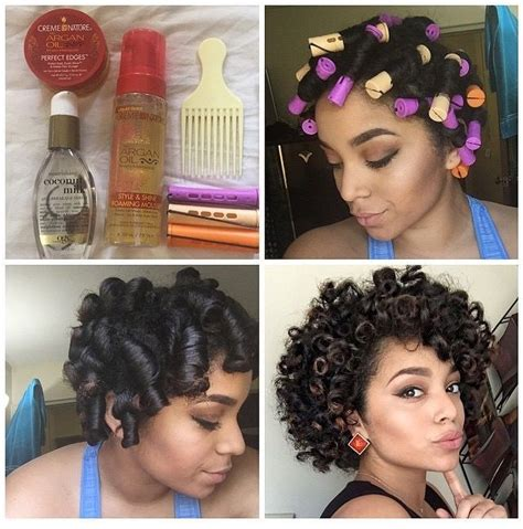 roll and set hairstyles pin by nicole mayes on that hair pinterest natural
