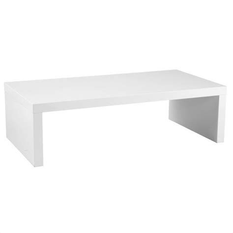 White Rectangular Coffee Table Abril Lightweight White Rectangular Wood Coffee Table 09704wht