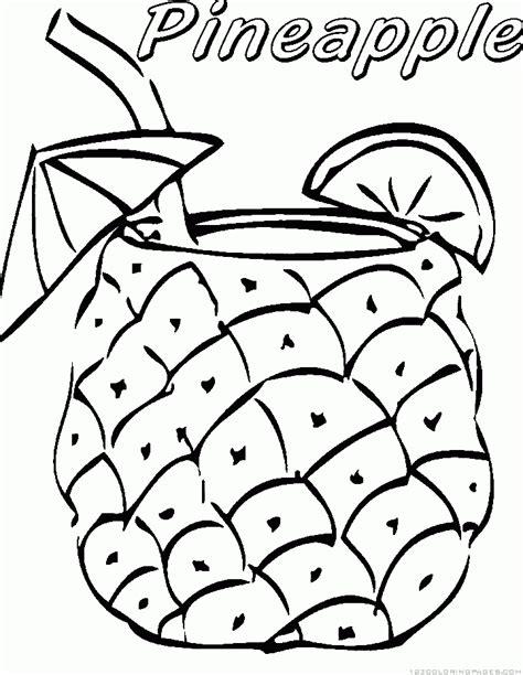 pineapple coloring page pineapple coloring page sketch coloring page
