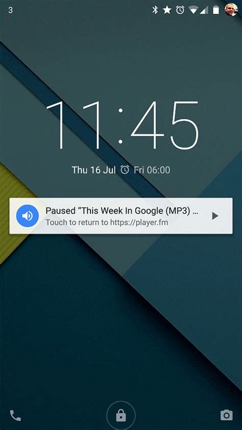 android lock screen notifications media playback notifications for chrome on android web developers