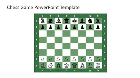 layout for chess game free chess game powerpoint template