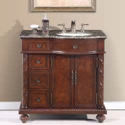 36 inch single bathroom vanity center right sink