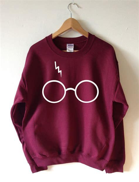Hoodie Harry Potter Design Animasi T Shirt Sweater Hoodies Pria Keren harry potter lightning glasses maroon sweatshirt sweater tees unisex