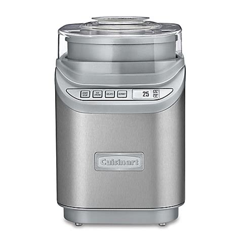 bed bath and beyond ice maker buy cuisinart 174 electronic ice cream maker in silver from