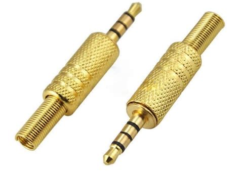Sale 4 Poles Mic Type Diy 35mm Replacement Oyaide I Straigh 35mm 4pole trrs gold plated replacement stereo connector for sale in newbridge
