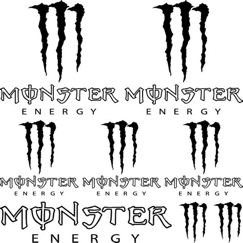 Gratis Aufkleber Monster Energy by Wandtattoos Folies Monster Energy Aufkleber Set