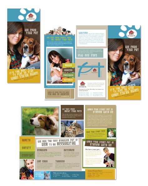 pet flyer templates free kennel pet day care tri fold brochure template http
