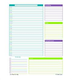 free daily calendar template with times daily planner template 26 free word excel pdf