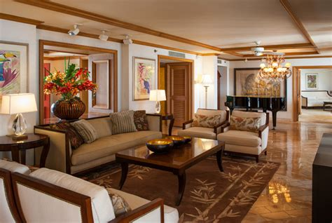 Hotel Style Living Room Ideas by Hospitality Wailea Resort Hotel Tropical Living Room