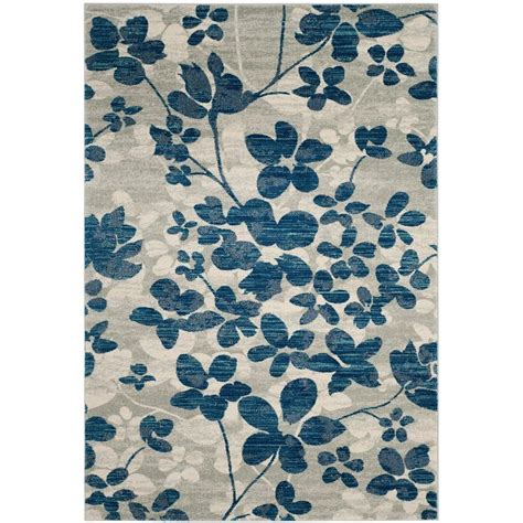 carleson ivory and blue rug safavieh evoke gray ivory 8 ft x 10 ft area rug evk220d