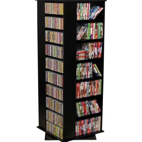 dvd storage tower venture horizon 63 quot revolving 4 sided media tower 2393