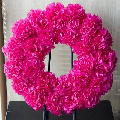 tissue paper flower garland tutorial as promised flower wreath tutorial tissue paper flowers
