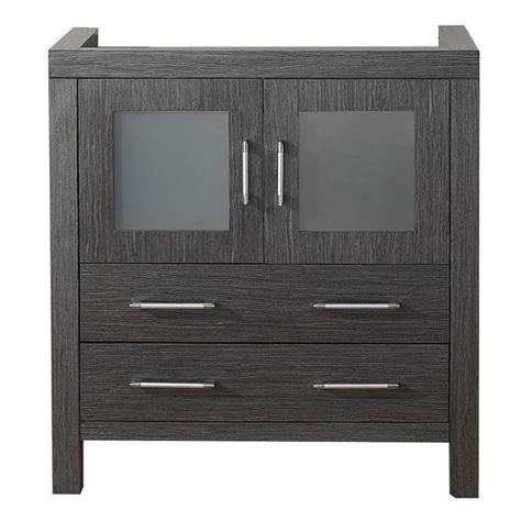 virtu usa 32 inch zebra grey single sink cabinet only