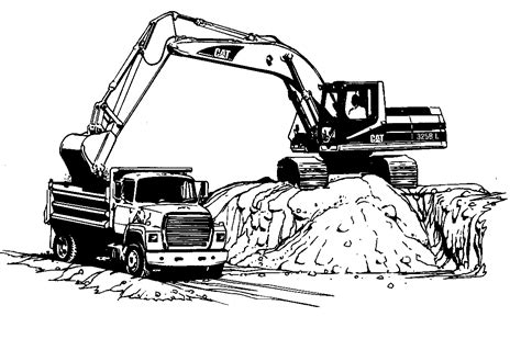 coloring pages of excavators excavator coloring pages to download and print for free