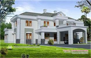 luxury colonial style home design with court yard indian house plans three bedroom
