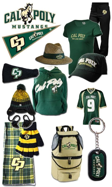 cal poly colors cal poly slo gear green and yellow go