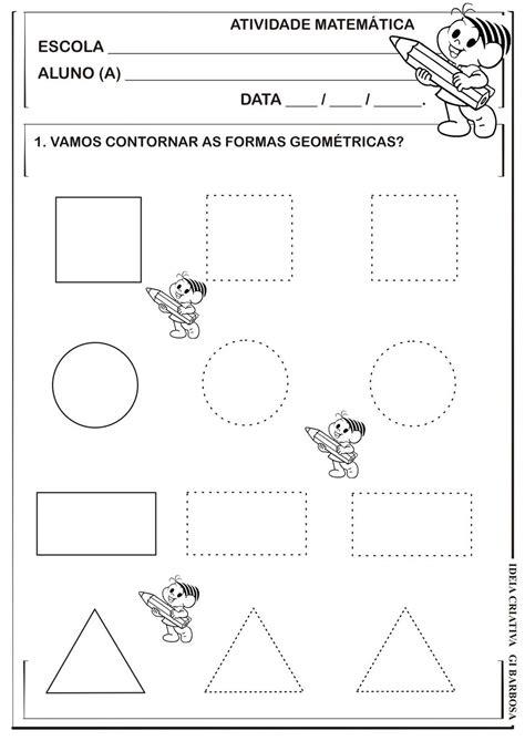 figuras geometricas formulario formas geom 233 tricas pontilhado atividade turma da m 244 nica