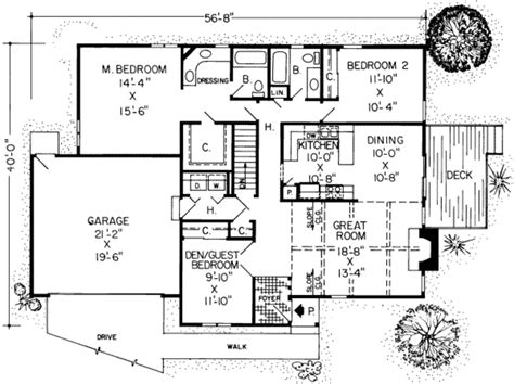 415 sq ft house plan 3 beds 2 baths 1565 sq ft plan 312 415