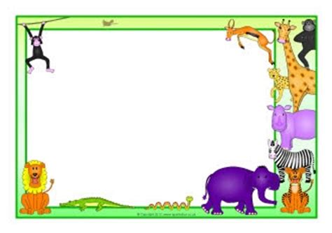 animal border writing paper rumble in the jungle a4 page borders rumble in the