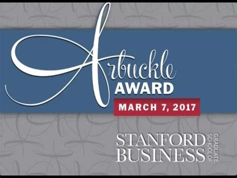 Stanford Mba Invitations 2017 by Stanford Gsb Arbuckle Award Recipients 1968 2017