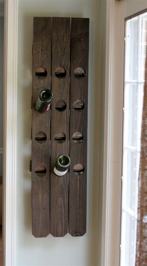 Wine Bottle Rack Diy by Diy Wall Mount Riddling Wine Rack From An Fence Luxury Lifestyle Design Architecture
