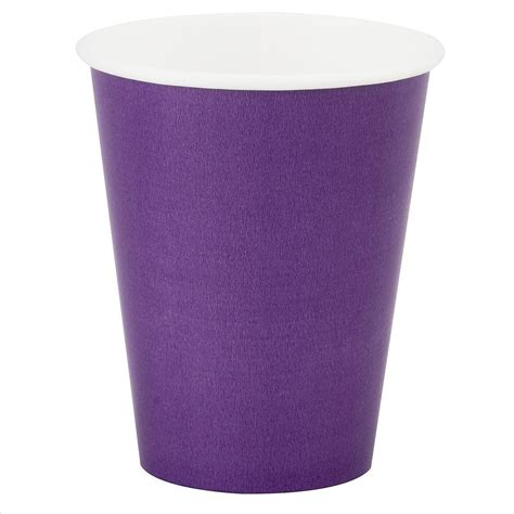 Paper Cup - purple paper cup 12oz