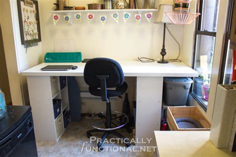 diy craft desk with storage make your own built in craft desk