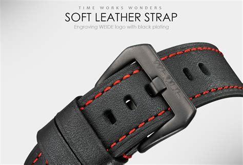 Weide Japan Quartz Miyota Leather Wh5201 Merah weide wh5201 s universe series analog led display leather ebay