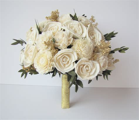 Wedding Bouquet Gold by Ivory And Gold Bridal Bouquet S Flowers Bridal
