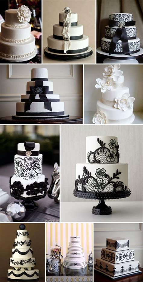 Black And White Wedding Cakes by How To Plan A Black And White Wedding