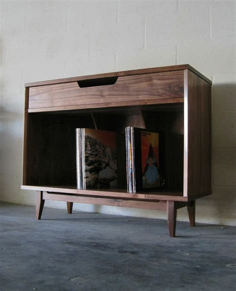 hand  solid walnut record cabinet  pulp ore