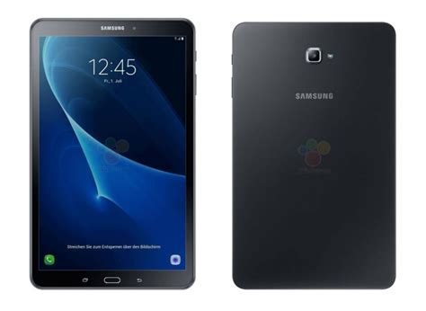 samsung galaxy tab a 10 1 2016 leaked specifications and official renders