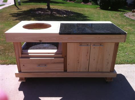 Big Green Egg Table Plans by Big Green Egg Table Kreg Owners Community