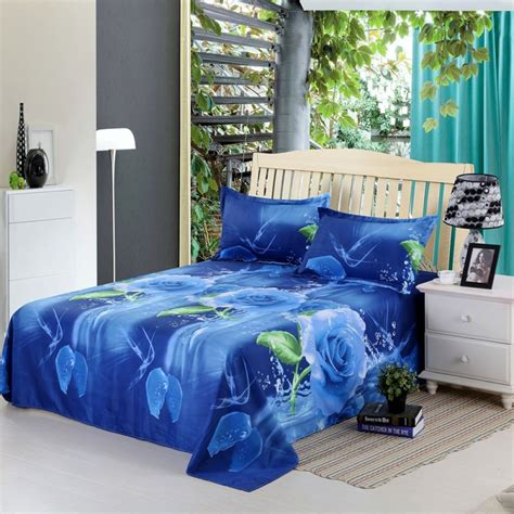 3d bedding set blue flower family comforter