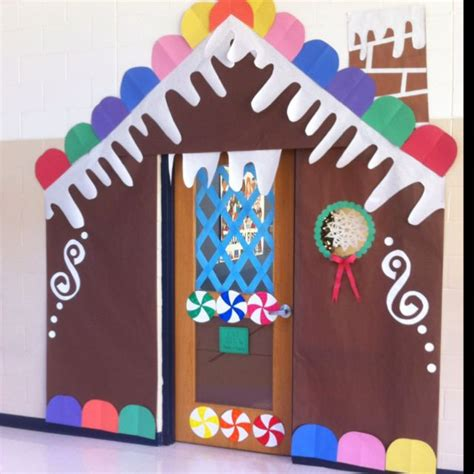 Gingerbread House Door Decorations by Gingerbread House Has Taken The Office