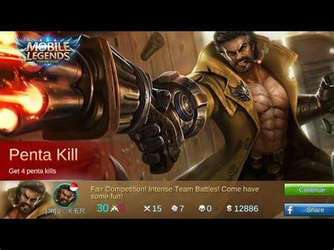 mobile legends gameplay roger penta kill op item build